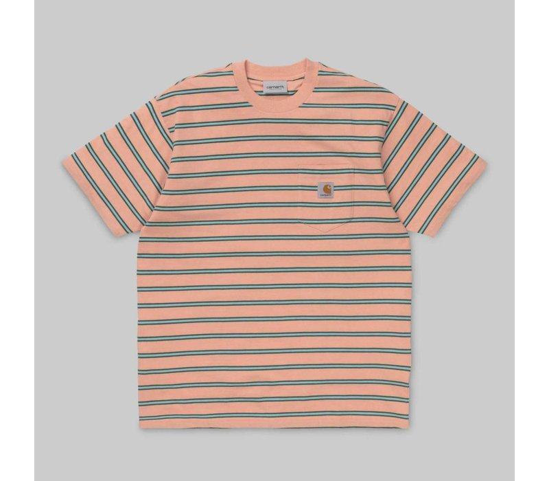Carhartt Houston Pocket Tee Stripe Peach
