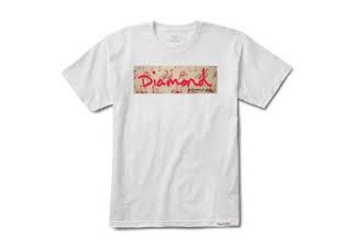 Diamond Diamond Flamingo Box Logo Tee White