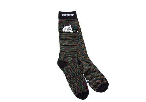Ripndip Ripndip Peeking Nermal Black/Space Dye Socks