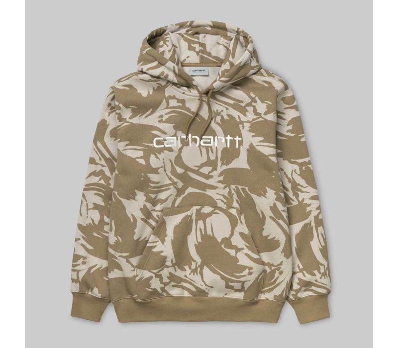 Carhartt Hooded Sweatshirt Camo Brush Sandshell/White