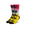 HUF Huf Plantlife Gradient Dye Sock Aurora Yellow