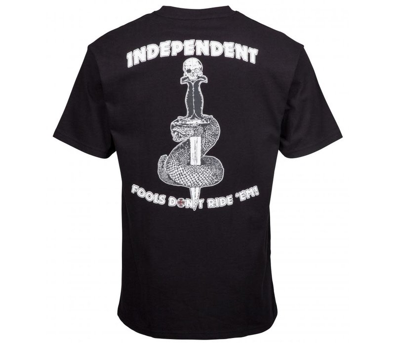 Independent Fools Don't Tee Black