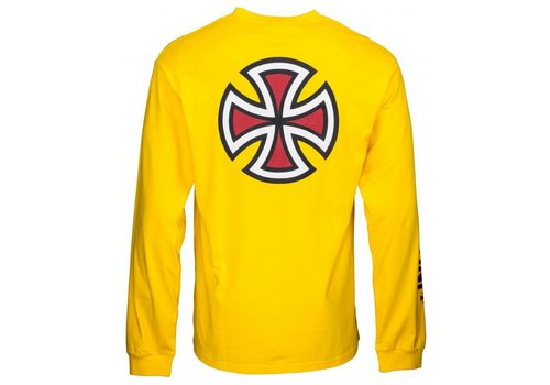 Independent Independent Bar Cross LS Tee Yellow