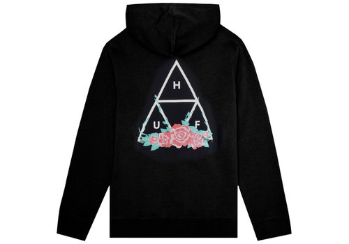 HUF Huf City Rose Hoodie Black