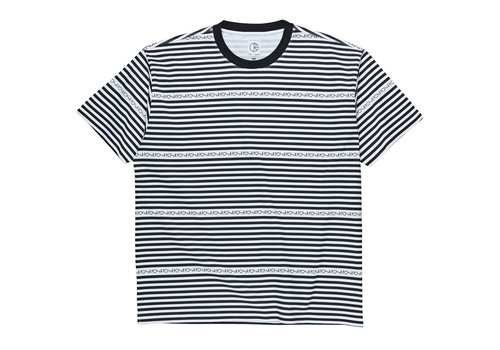 Polar Polar Stripe Logo Tee Black