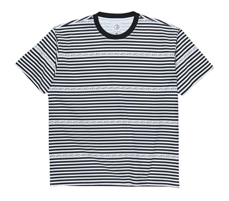 Polar Stripe Logo Tee Black