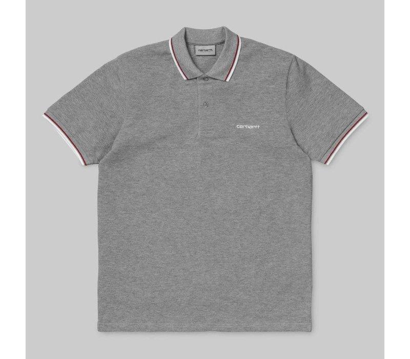 Carhartt Script Embroidery Polo Grey/White