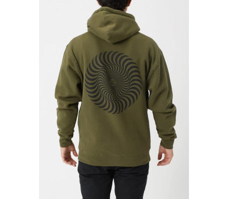 Spitfire Classic Swirl Hood Army/Black