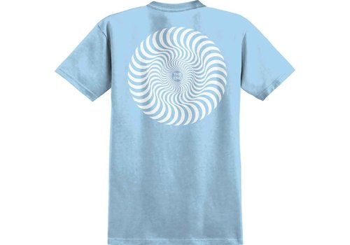 Spitfire Spitfire Classic Swirl Youth Tee Powder Blue/White
