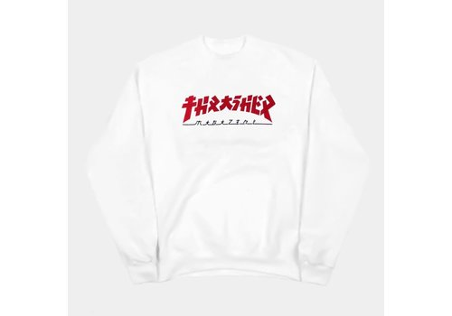 Thrasher Thrasher Godzilla Crewneck Fleece White