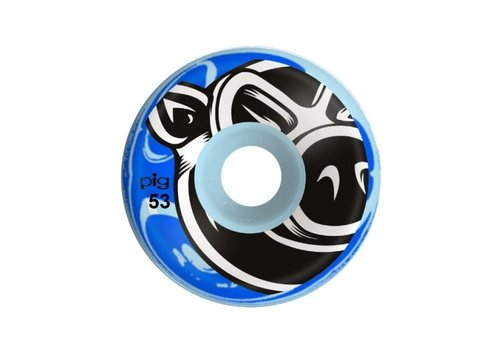 Pig Pig Wheels Conical Blue Swirl 53mm