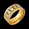 Baker Baker Brand Logo Ring Gold