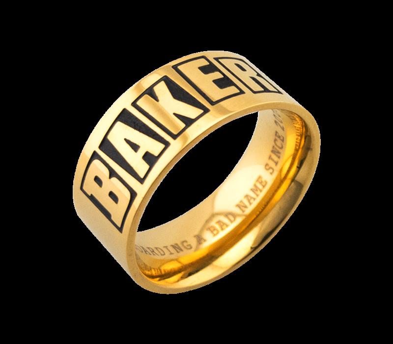 Baker Brand Logo Ring Gold