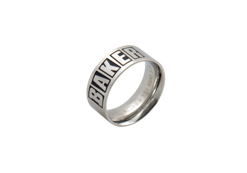 Baker Baker Brand Logo Ring Silver