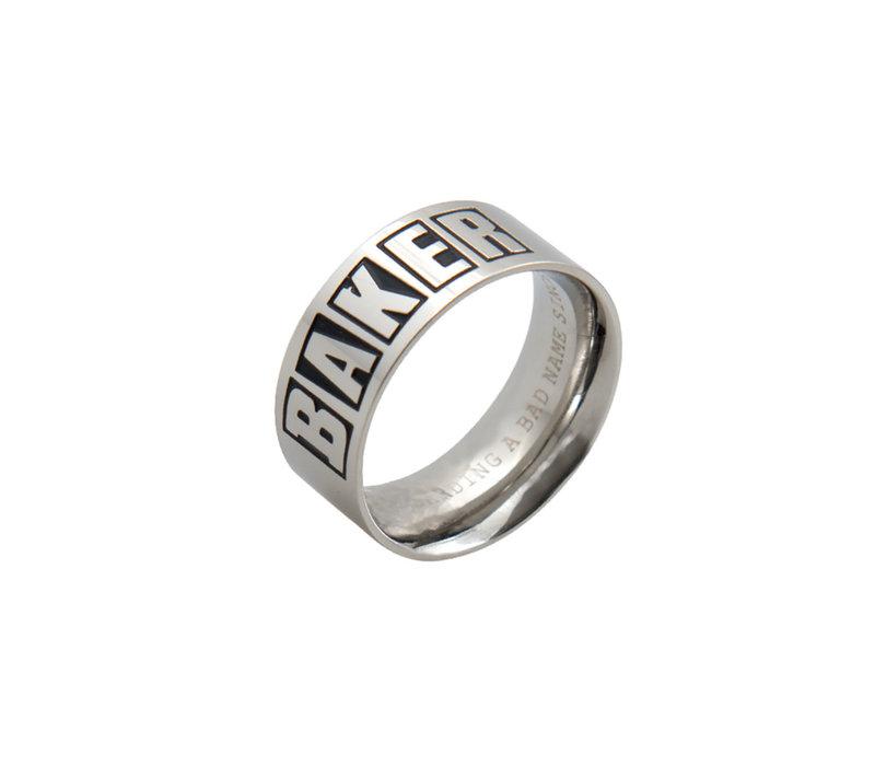 Baker Brand Logo Ring Silver