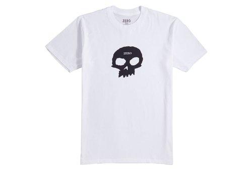 Zero Zero Single Skull Tee White