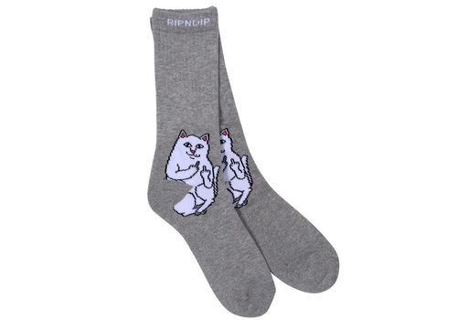 Ripndip RipnDip Lord Nermal Socks Heather Grey
