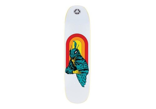 """Welcome Welcome Mothman on Son of Moontrimmer White 8.25"""""""