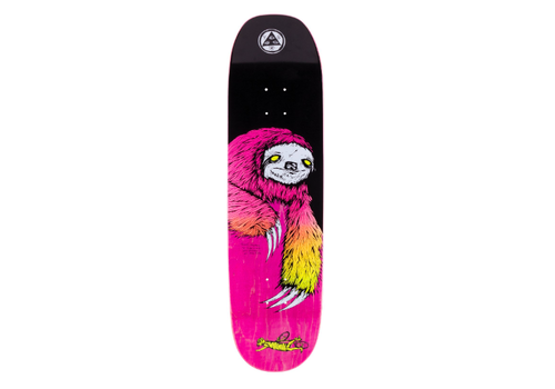 """Welcome Welcome Sloth on Moontrimmer 2.0 Black/Surf Fade 8.5"""""""