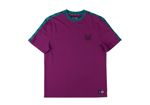 Welcome Welcome Chalice Taped Short Sleeve Knit Purple/Teal/Black