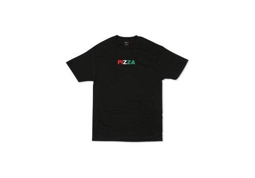 Pizza Pizza Tri Color Tee Black