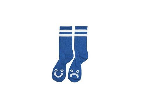 Polar Polar Happy Sad Socks Blue