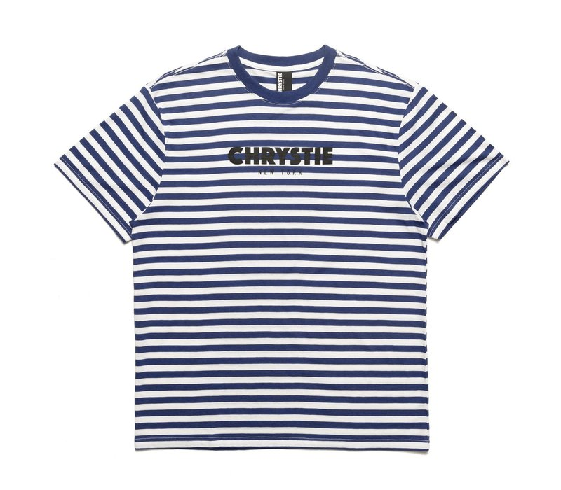 Chrystie NYC Stripe Tee Navy
