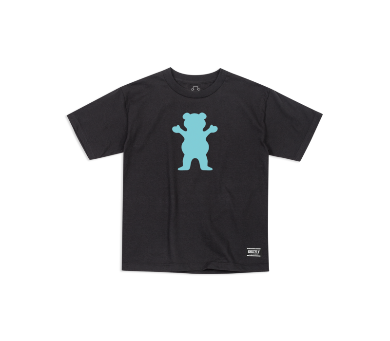 Grizzly OG Bear Youth Tee Black/Mint