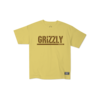 Grizzly Grizzly Stamp Youth Tee Banana/Brown