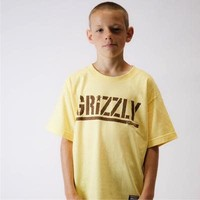 Grizzly Stamp Youth Tee Banana/Brown