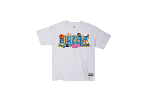 Grizzly Grizzly Pool Party Youth Tee White