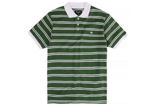 Magenta Magenta Polo Green Striped