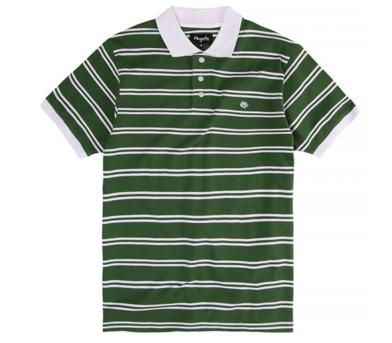 Magenta Polo Green Striped