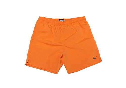 Magenta Magenta Nylon Shorts Orange