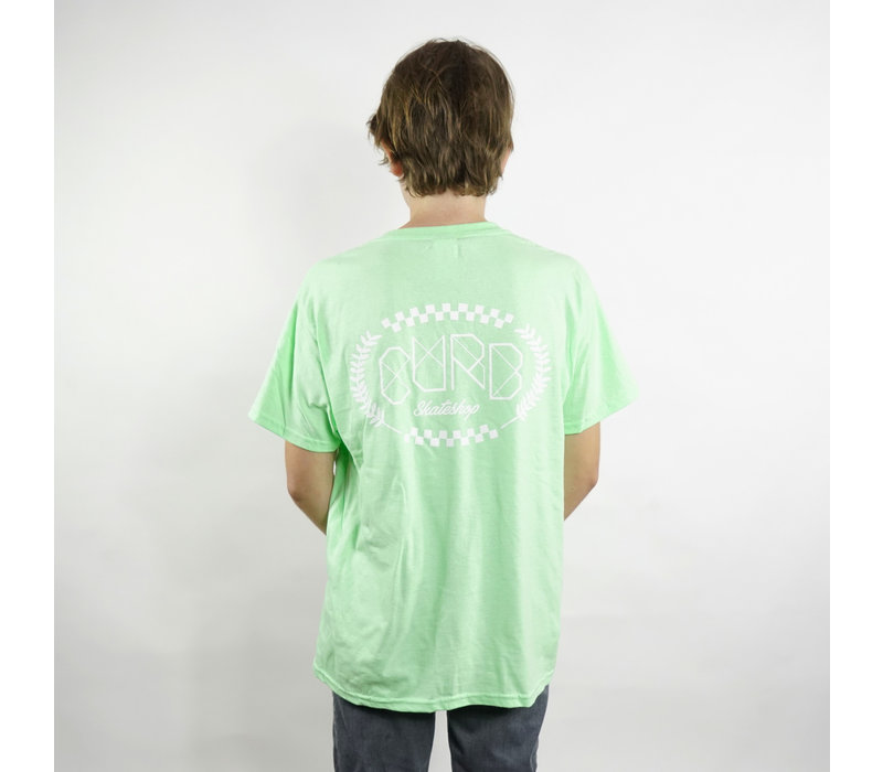 Curb Race Laurel Youth Tee Mint Green