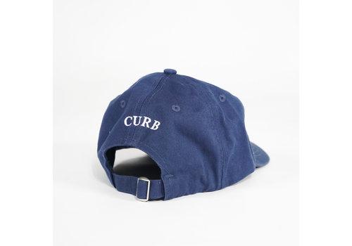 Curb Curb Race Logo Vintage Denim Navy Cap