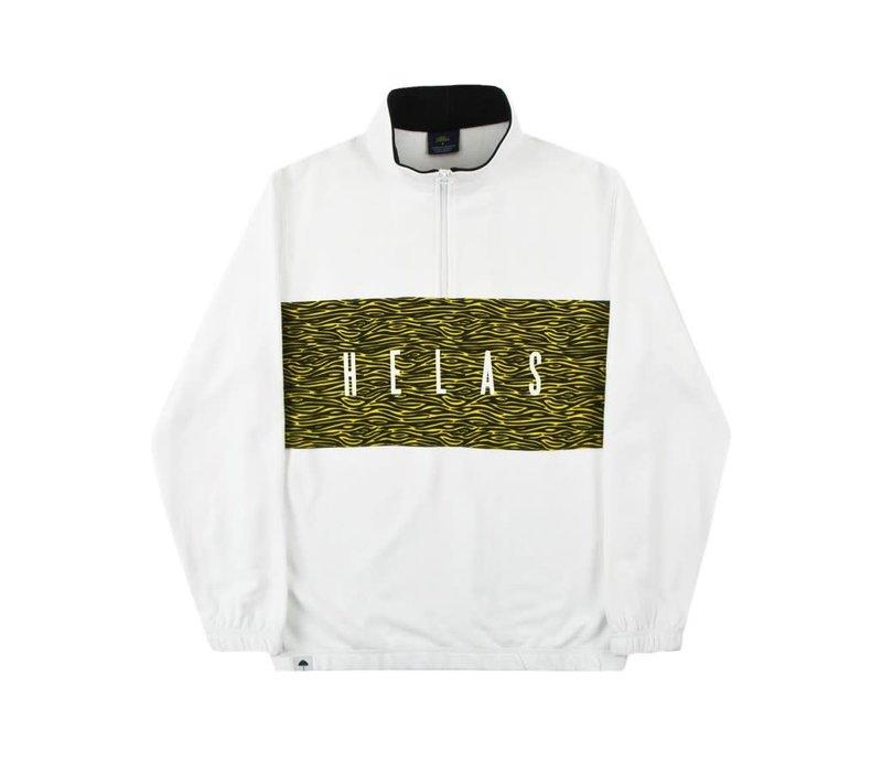 Helas Jungle Quarter Zip White