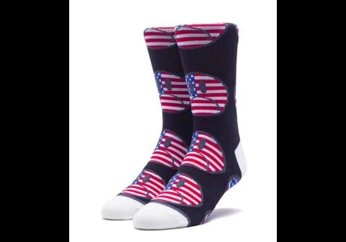 HUF Huf Bummer USA Sock Black (One Size)
