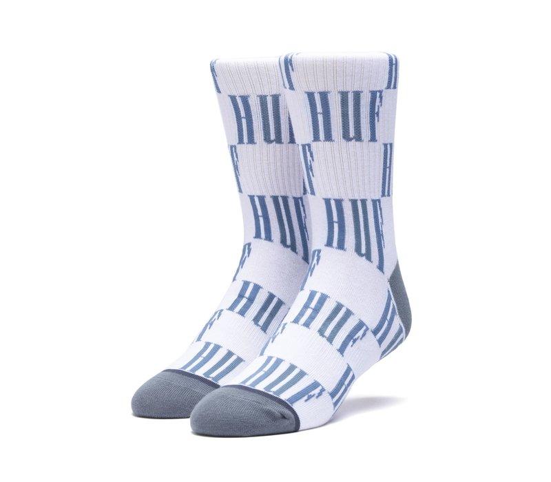 Huf Big Checkered Sock Blue Mirage