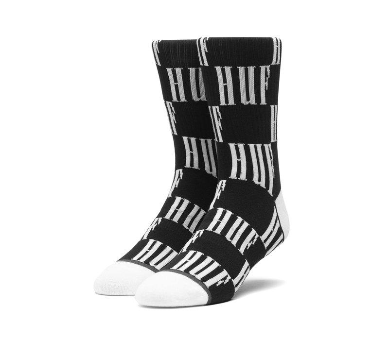Huf Big Checkered Sock Black