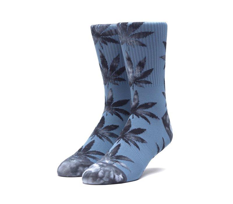 Huf Tie Dye Leaves Plantlife Sock Blue Mirage