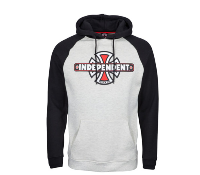 Independent Truck Co Raglan Hood Black/Athletic Heather