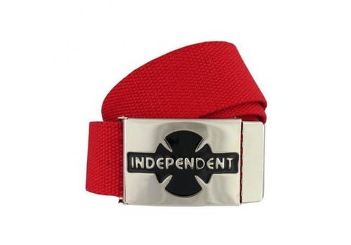 Independent Independent Clipped Belt Cardinal Red