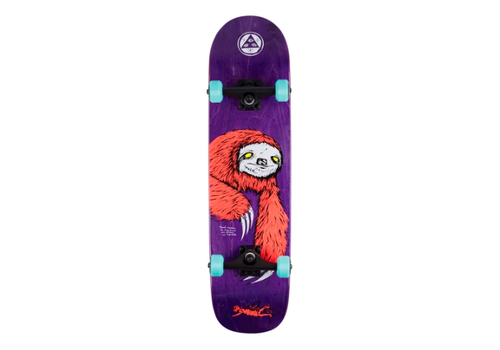 Powell Peralta Welcome Sloth Complete Coral/Purple Stain 8.0