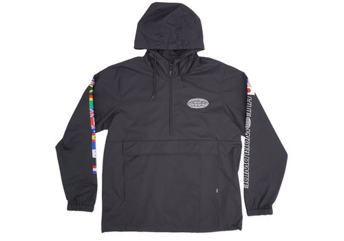 HUF Huf World Tour Anorak Jacket Black