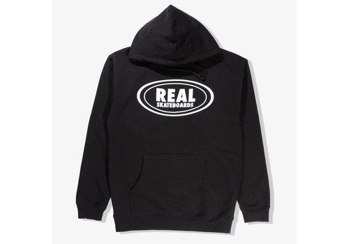 Real Real Oval Hoodie Black