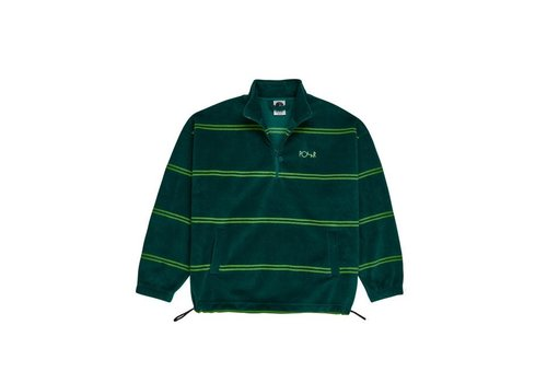 Polar Polar Striped Fleece Dark Green Pullover 2.0