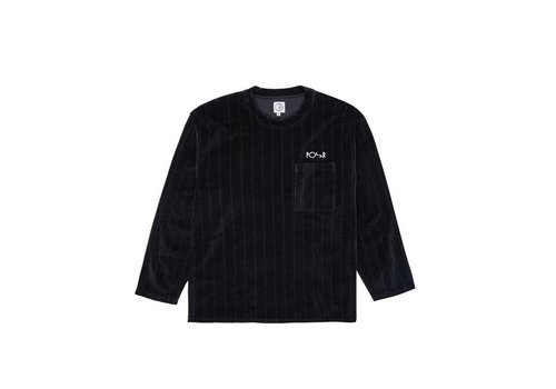 Polar Polar Velour Pullover Black
