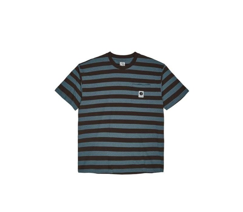 Polar Stripe Pocket Tee Brown/Blue
