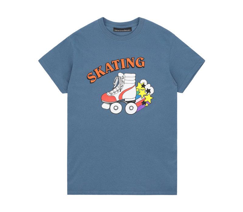 Call Me 917 - Skate Or Die Tee - Blue